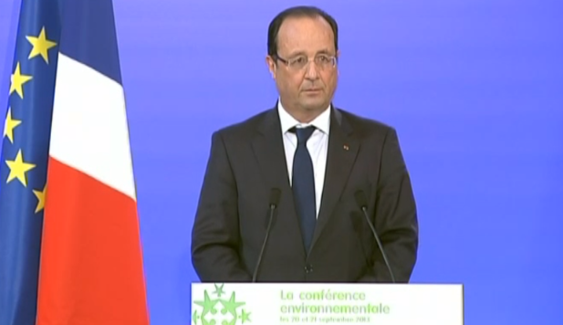 """François Hollande: """" La transition énergétique n'est pas un problème, c'est la solution""""."""