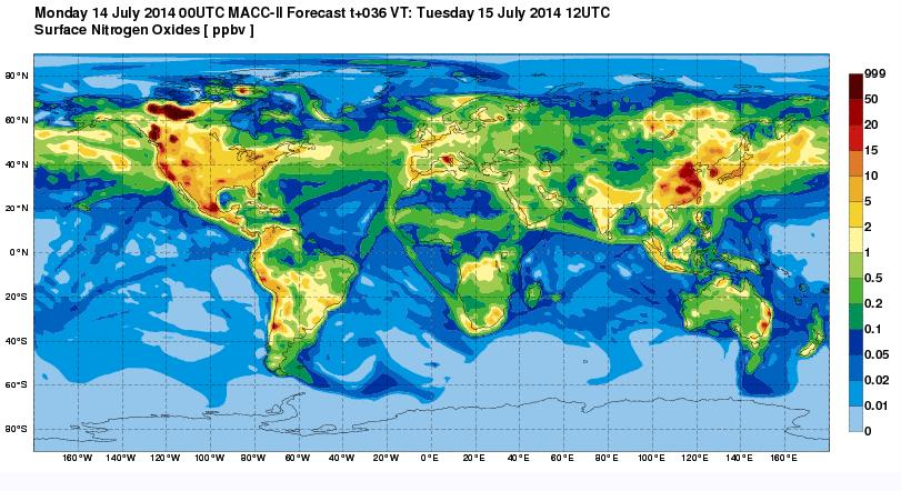 Pollution atmosphérique : la carte du monde selon les oxydes d