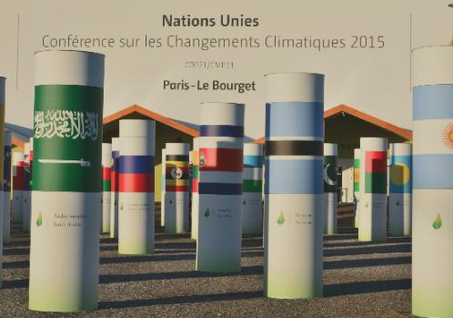 Site du Bourget de la Conférence climat de Paris. Cette COP21 impose le consensus, mais le réchauffement ne fait pas et ne fera pas de compromis. ©vr